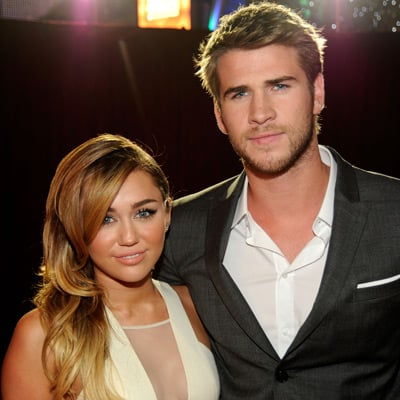 Miley Cyrus and Liam Hemsworth Red Carpet Pictures at 2012 People's Choice Awards
