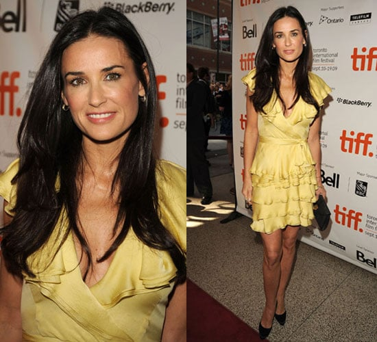 Photo of Demi Moore in Yellow Dress at 2009 Toronto Film Festival 2009-09-14 11:15:08