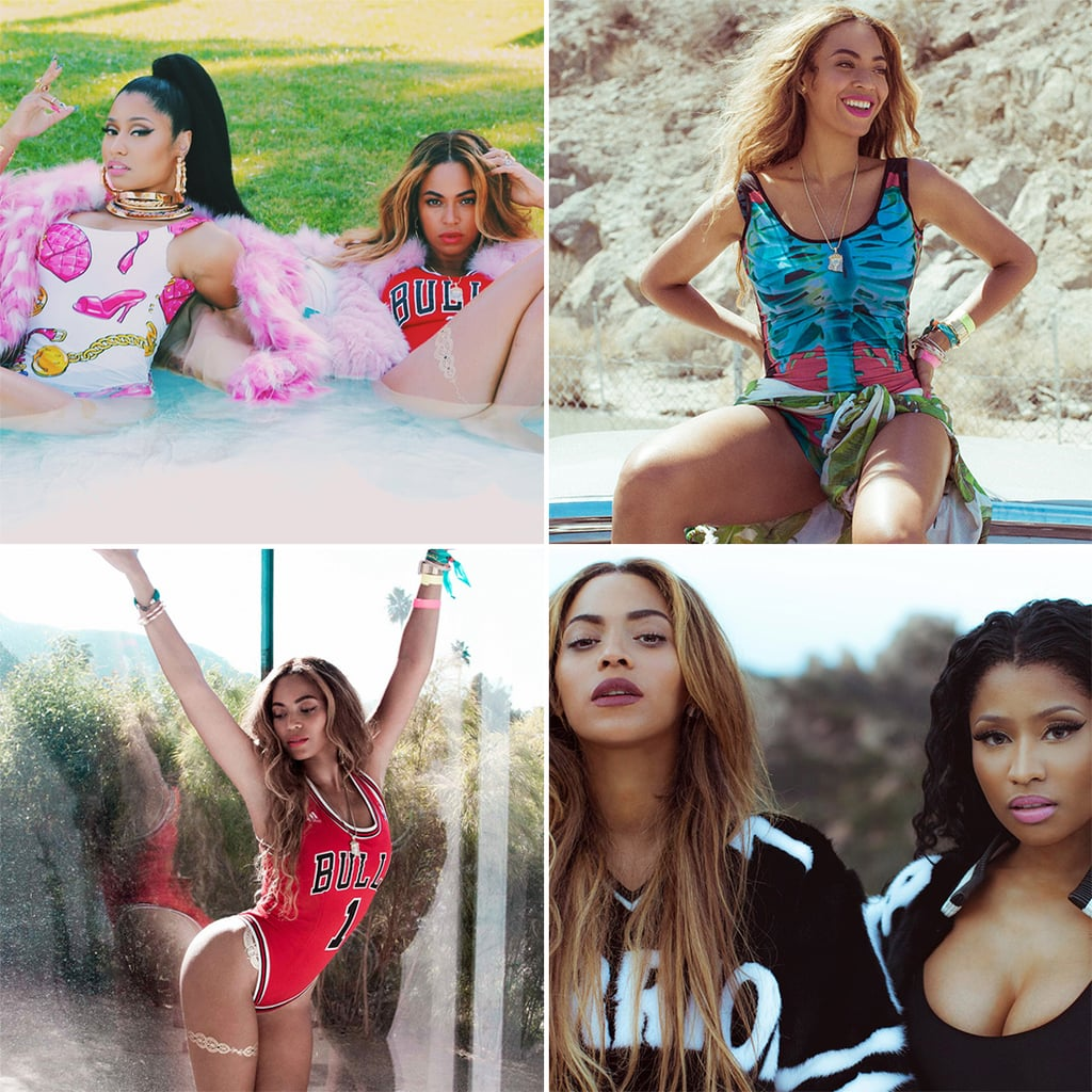 Beyoncé and Nicki Minaj Are Really Feeling Themselves in These Candid Snaps
