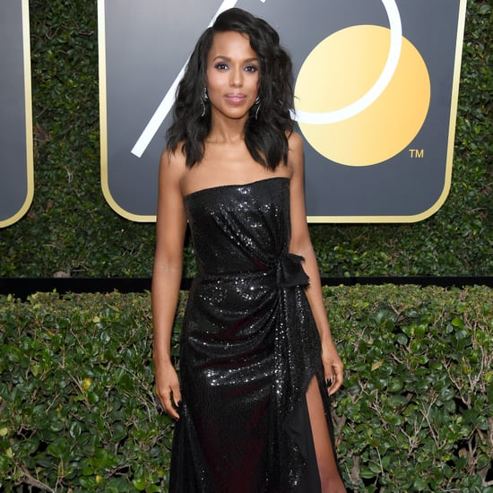 Kerry Washington Roger Vivier Shoes Golden Globes 2018