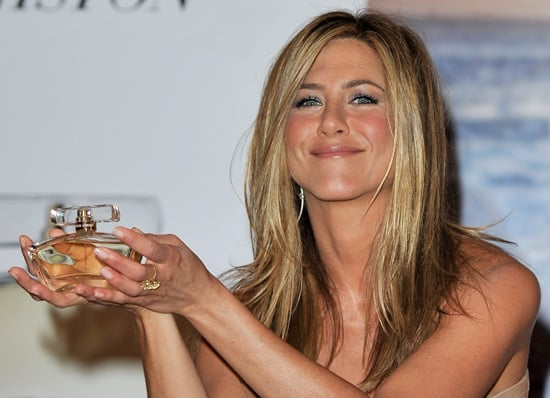 Photos of Jennifer Aniston's London Fragrance Launch Including a Signed Bottle Shot