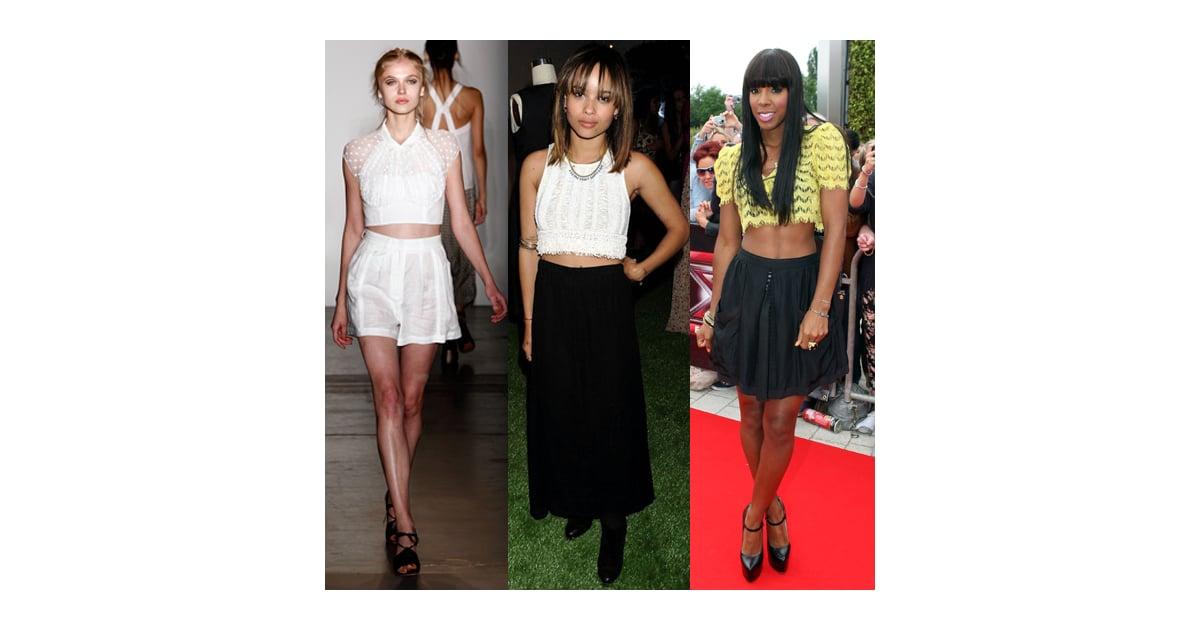 Celebrity Style Trends Crop Tops Popsugar Fashion Uk