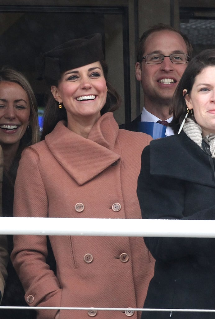 The couple watched on at the races at the Cheltenham Festival in March 2013.