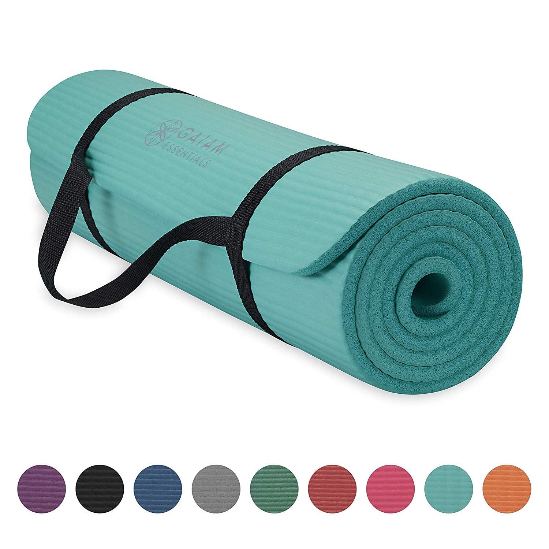 Gaiam Essentials Thick Yoga Mat Fitness Fanatics These