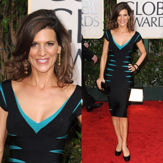 Perry Reeves in Herve Leger at 2010 Golden Globe Awards