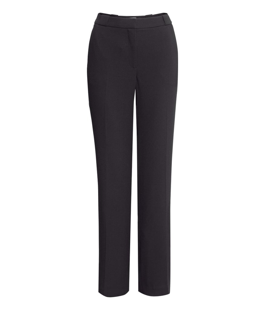 H&M's wide-leg suit pants ($35) create a superlean silhouette.