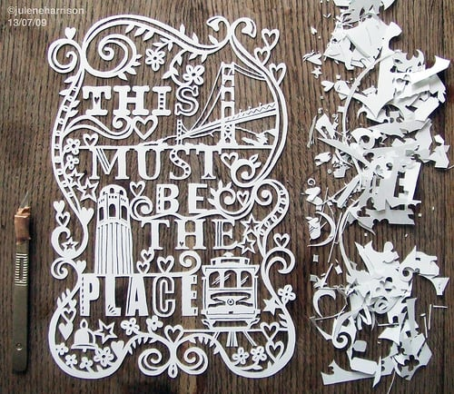Cool Idea: Julene Harrison's Papercut Artwork