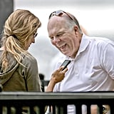 Gisele Bundchen with Tom Brady's dad in Boston.