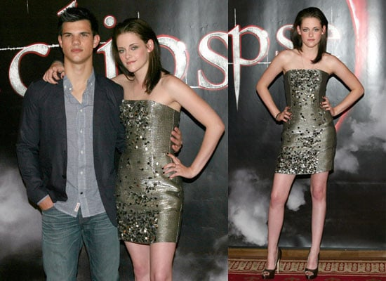 Pictures of Kristen Stewart and Taylor Lautner in Stockholm Promoting Eclipse Plus Watch New Eclipse Clips
