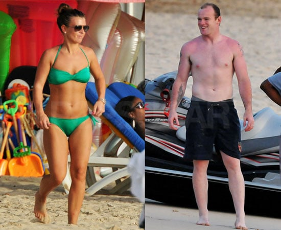 Pictures of Kai Rooney, Coleen Rooney and Wayne Rooney on Holiday