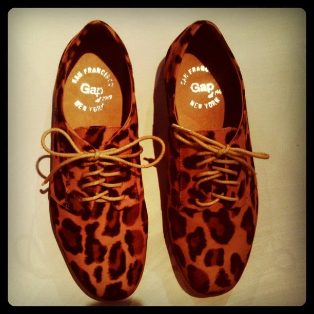 We can't wait to shop Gap's leopard-print oxfords.