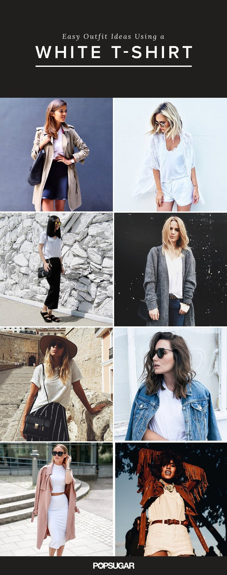 3d49b60a91c Ways to Wear a White T-Shirt