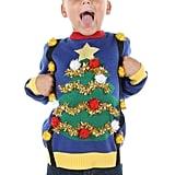 Christmas Tree Suspenders Pom Pom Sweater