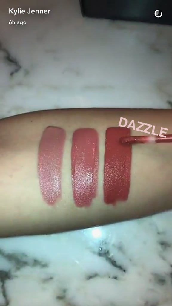 Berühmt Swatch of Kylie's Velvet Lip Kit in Dazzle | Kylie Jenner Velvet  QY37