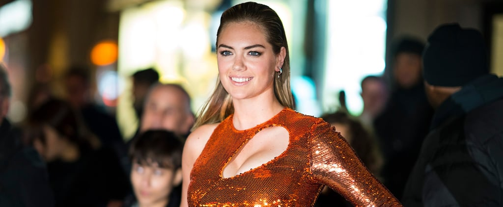 Kate Upton's Metallic Dress Looks Sexy on the Red Carpet but Downright Magical Blowing in the Wind