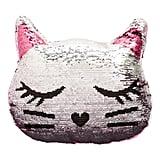 Capelli New York Reversible Sequin Cat Pillow