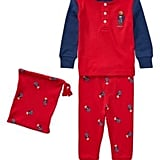 Polo Ralph Lauren Bear Cotton Pajama Set Martin Red 9M