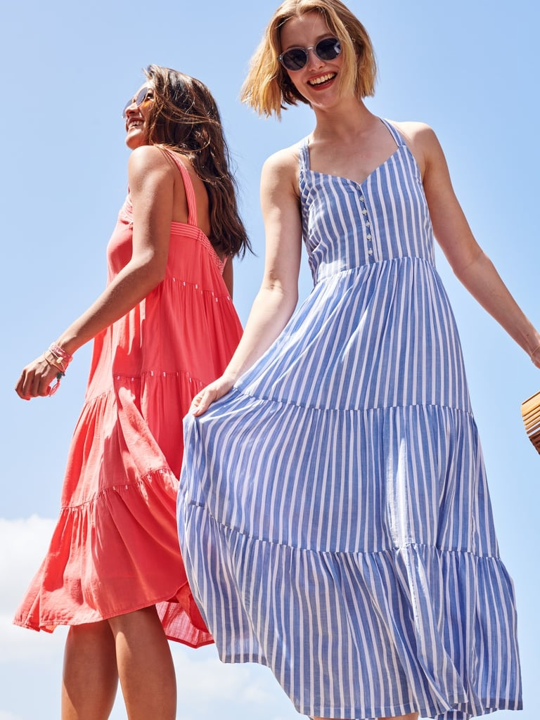 Old Navy Striped Fit & Flare Tiered Maxi Sundress