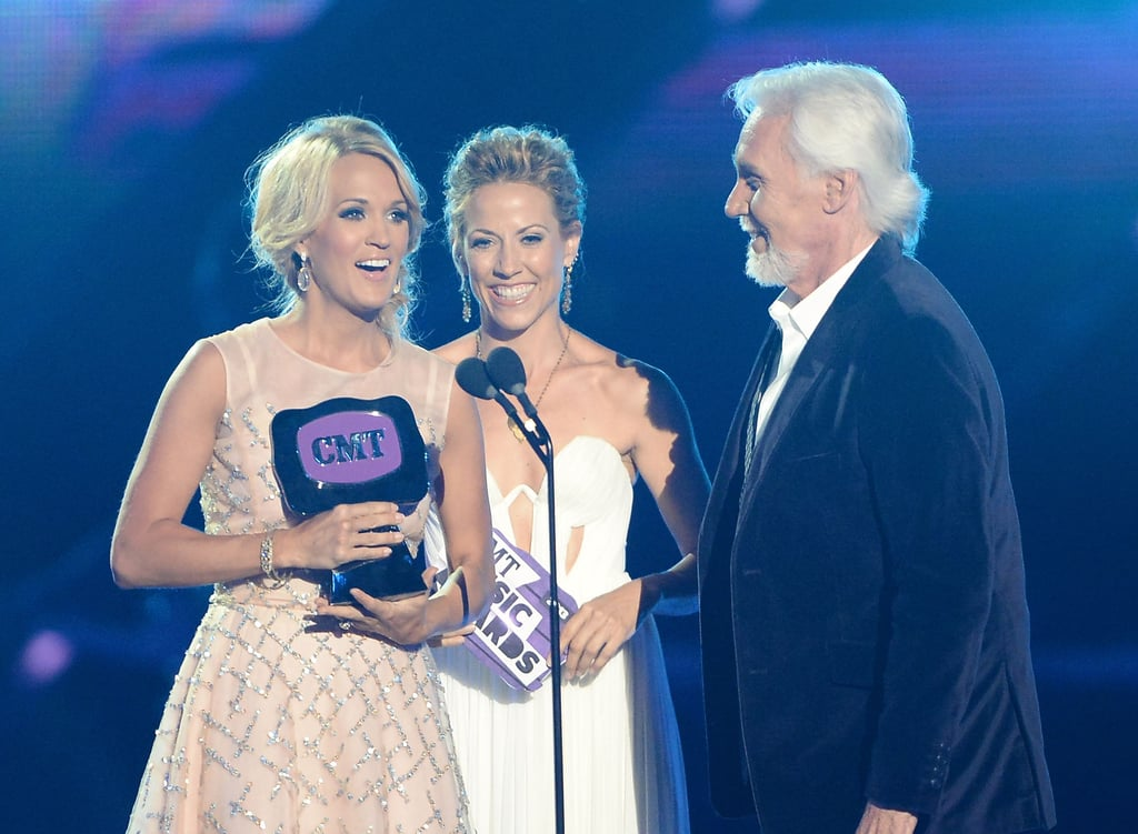 Carrie Underwood accepted an award.