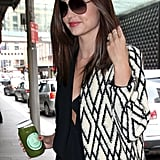 Miranda Kerr Covers Up For a Sydney Meeting