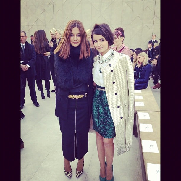 Russian style extraordinaire Miroslava Duma posed with VogueAustralia fashion director Christine Centenera at Fashion Week. Source: Instagram user miraduma