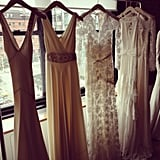 Gorgeous gowns in heavenly light at the Temperley Bridal preview.