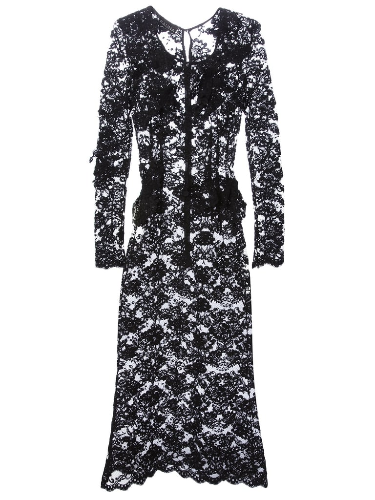 Fauna Black Sheer Lace Dress ($817, originally $1,362)