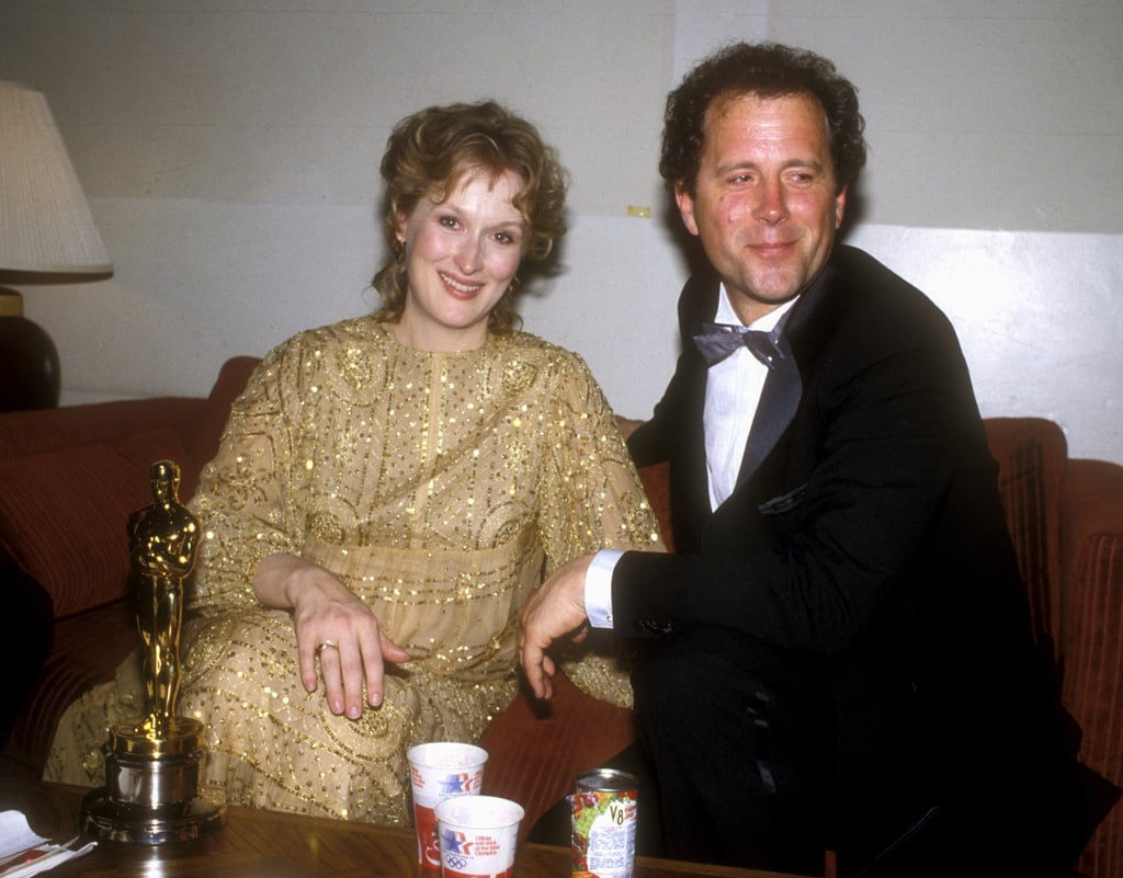 The pair sat backstage together at the Oscars in 1983 after Meryl won best actress for her role in Sophie's Choice.
