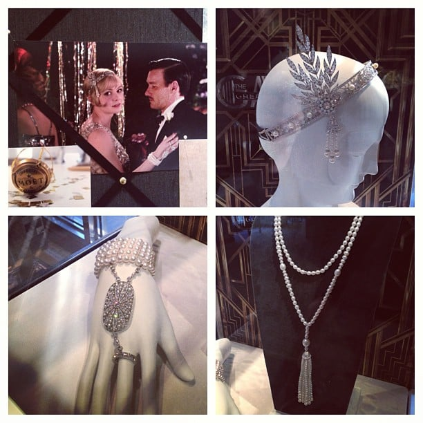 Some close-ups of the beautiful accessories from The Great Gatsby. You can buy that divine headpiece for, you know, the price of a house.