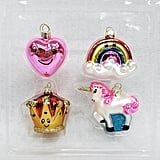 Mini Crown and Little Girl Christmas Ornament Set