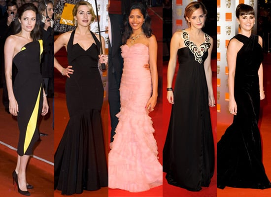 Angelina Jolie, Kate Winslet, Penelope Cruz, Emma Watson and Freida Pinto at 2009 BAFTA Awards
