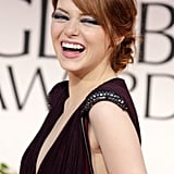 Emma Stone laughed out loud at the Golden Globes.