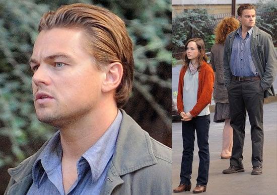 Leonardo DiCaprio and Ellen Page Filming Inception