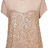 Sequin Heart Front Top