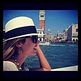Stacy Keibler toured around Venice by boat.  Source: Instagram User stacykeibler