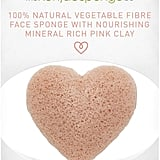 The Konjac Sponge Company Heart Sponge with Pink French Clay