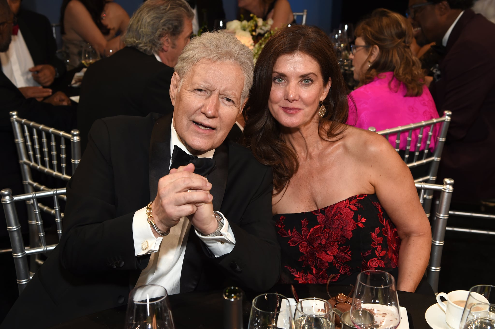 HOLLYWOOD, CALIFORNIA - JUNE 06: (L-R) Alex Trebek and Jean Currivan Trebek attend the 47th AFI Life Achievement Award honouring Denzel Washington at Dolby Theatre on June 06, 2019 in Hollywood, California. (Photo by Michael Kovac/Getty Images for AFI)