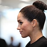 Meghan Markle's Sleek Top Knot, 2019