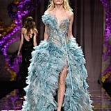 Hanne Gaby Odiele Debuted a Beautiful Blue Gown