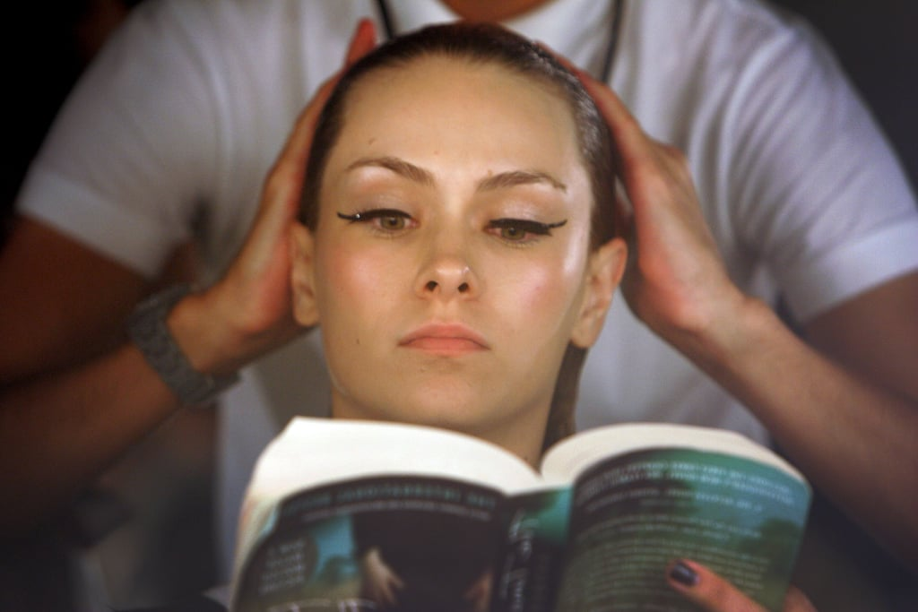 This model read while being prepped for David Jones's Autumn/Winter 2010 season launch in Sydney, Australia.