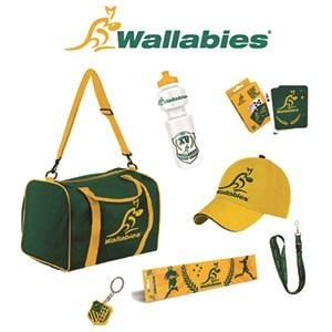 Wallabies Showbag ($25) Includes:  Sports bag  Cap  Playing cards