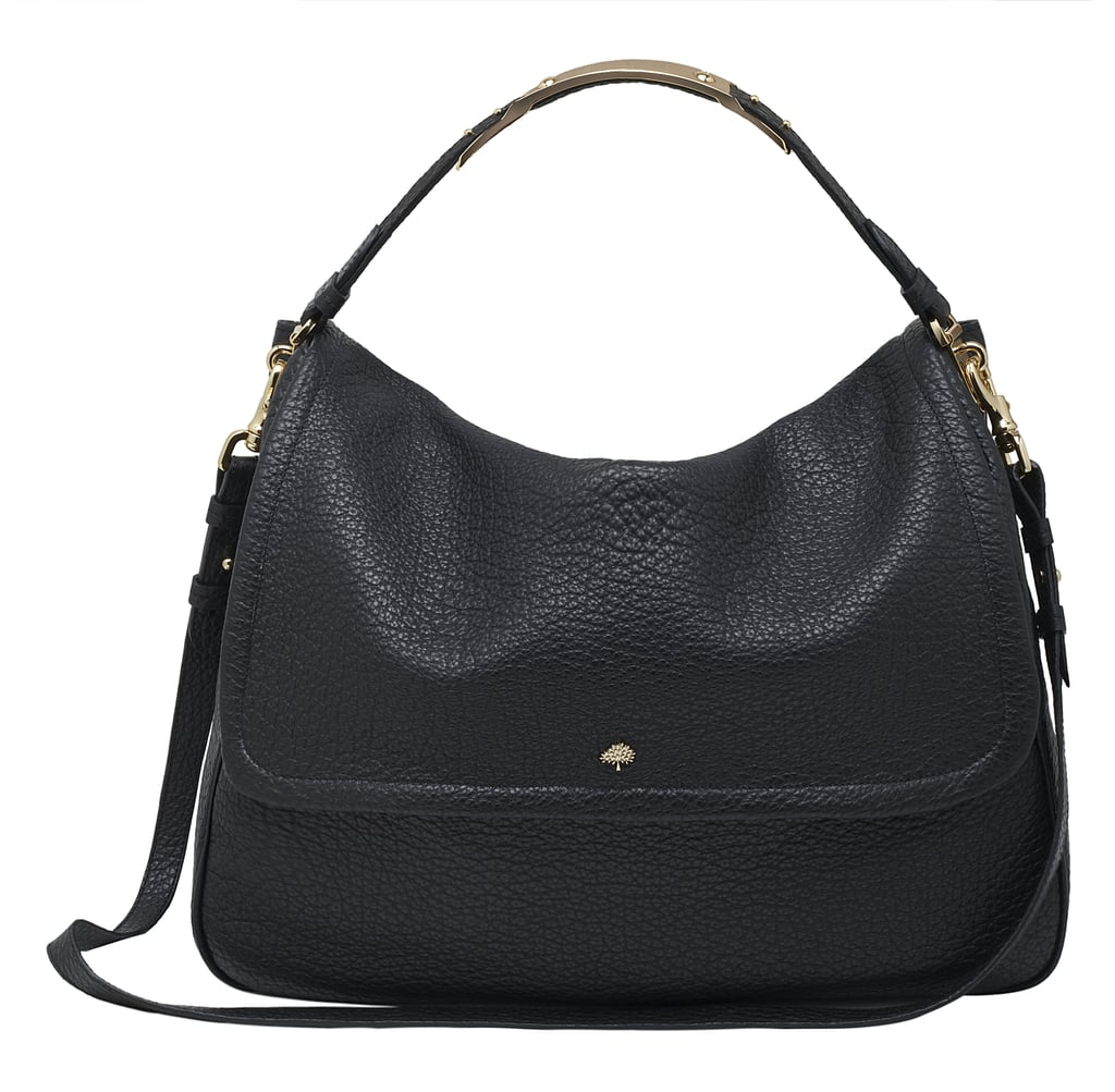 69f54050c9 Large Evelina Satchel in Black Soft Large Grain - £895