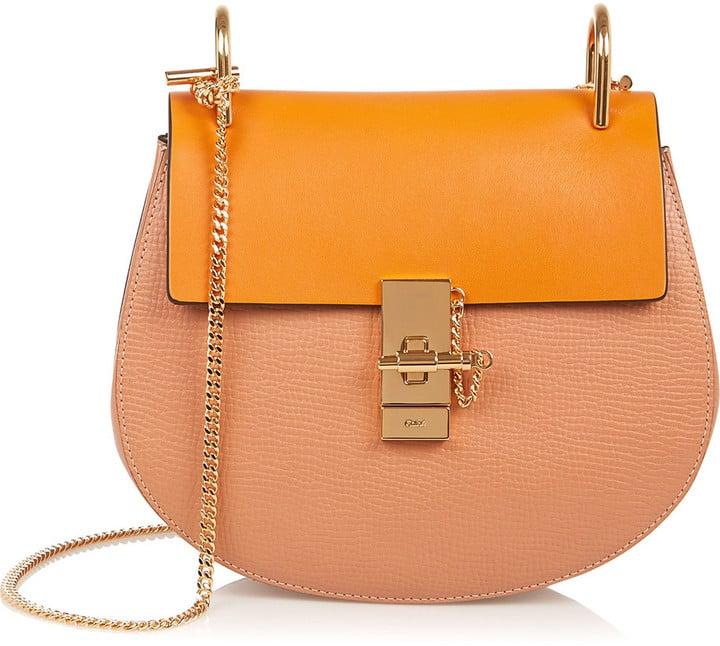 212dcef57917f Chloé Drew Medium Textured-Leather Shoulder Bag ($1,950) | Chloé ...