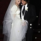 Nicole Kidman married Keith Urban wearing Balenciaga by Nicolas Ghesquière dress in Sydney, Australia, in June 2006.