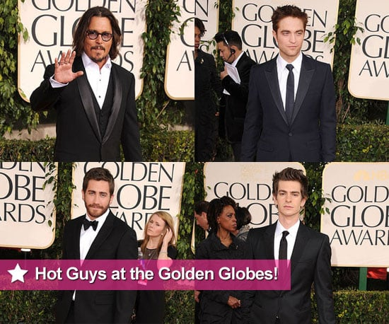 Zac Efron, Ryan Gosling, Jake Gyllenhaal and Robert Pattinson at the 2011 Golden Globe Awards