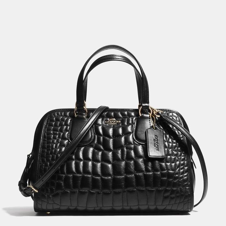 Coach Nolita Satchel In Quilted Croc Leather ($395)