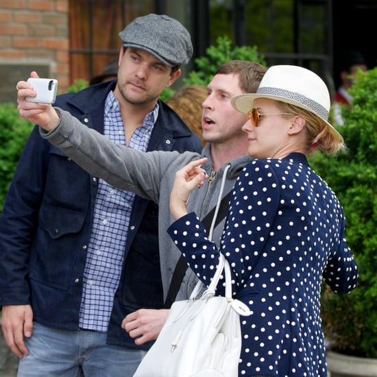 Diane Kruger and Joshua Jackson Taking a Fan Photo