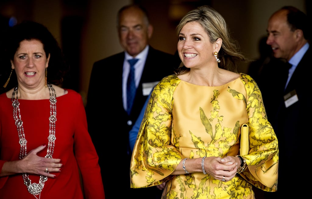 Queen Maxima Bell-Sleeved Dresses May 2016