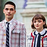 Maisie Williams and Reuben Selby Wearing Matching Eye Shadow at Paris Fashion Week