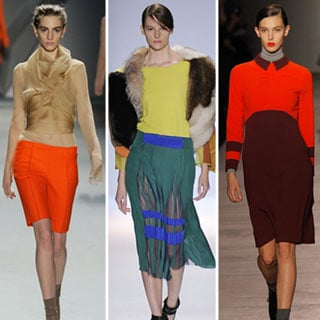 Runway Trends from New York Fashion Week Fall 2012 Catwalk Shows: Cool Colour Combos and Colour Blocking